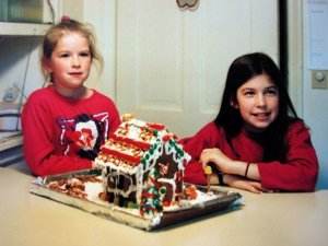 The author and her sister begin a gingerbread-house-making tradition.
