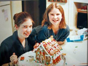The Lindroth sisters with their annual holiday creation